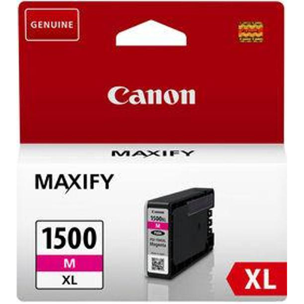 Inkjet Cartridges Canon PGI-1500XLM Inkjet Cartridge High Yield 12ml Page Life 780pp Magenta Ref 9194B001AA