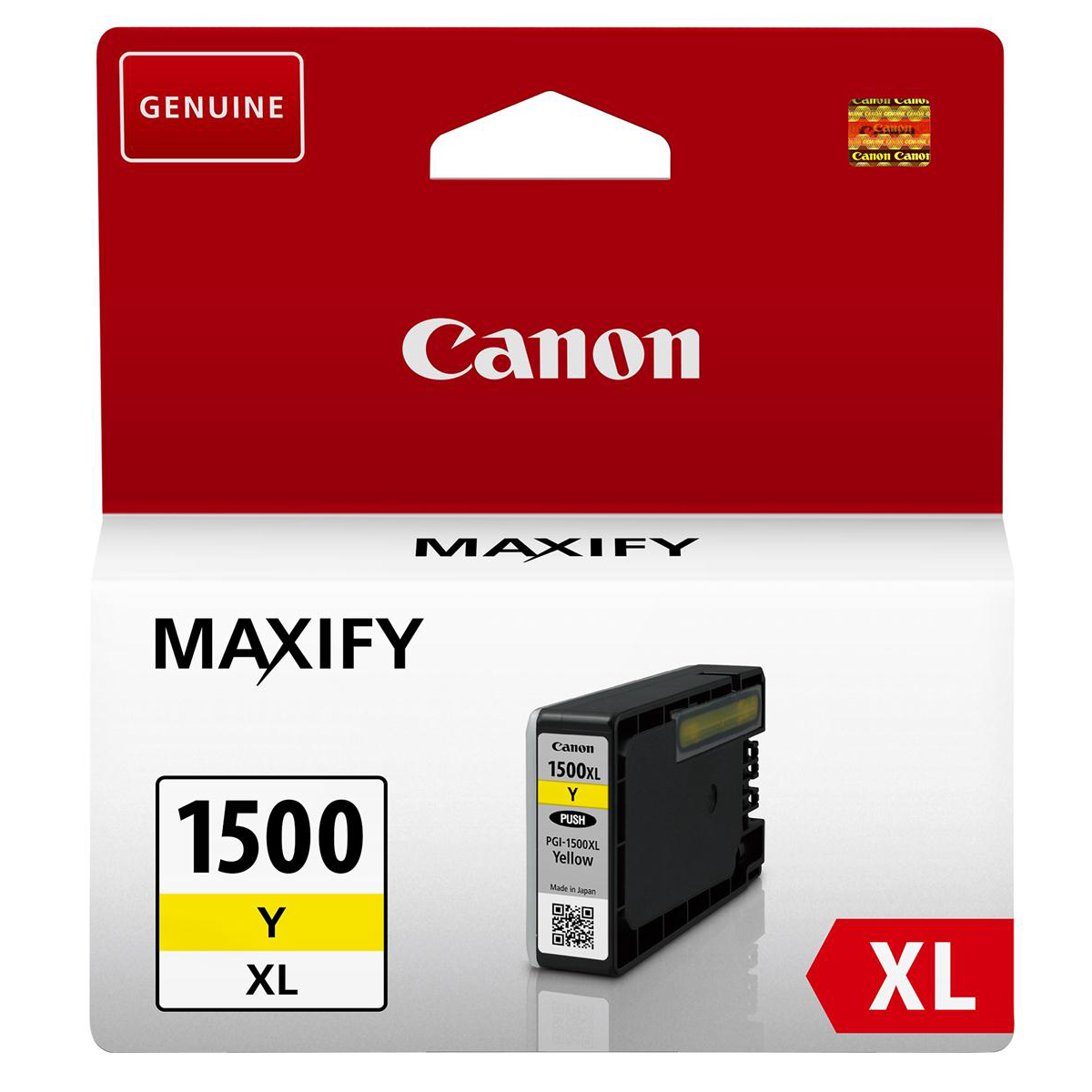 Canon PGI-1500XLC Inkjet Cartridge High Yield 12ml Page Life 935pp Yellow Ref 9195B001AA
