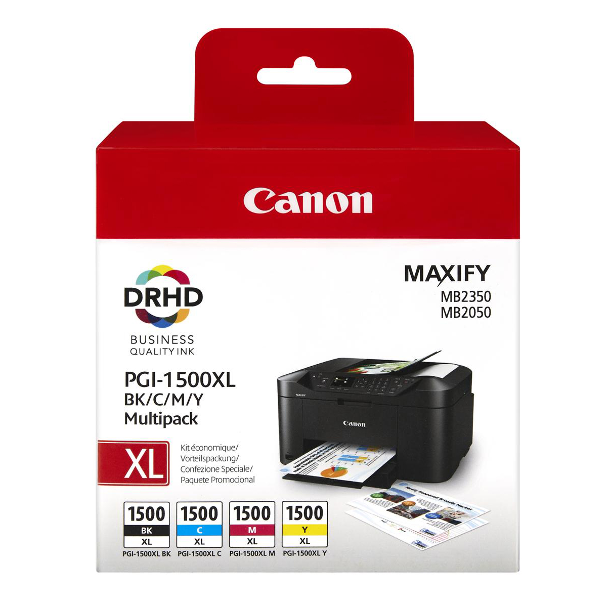 Canon PGI-1500XL Inkjet Cartridge High Yield Black/Cyan/Magenta/Yellow Ref 9182B004AA [Pack 4]
