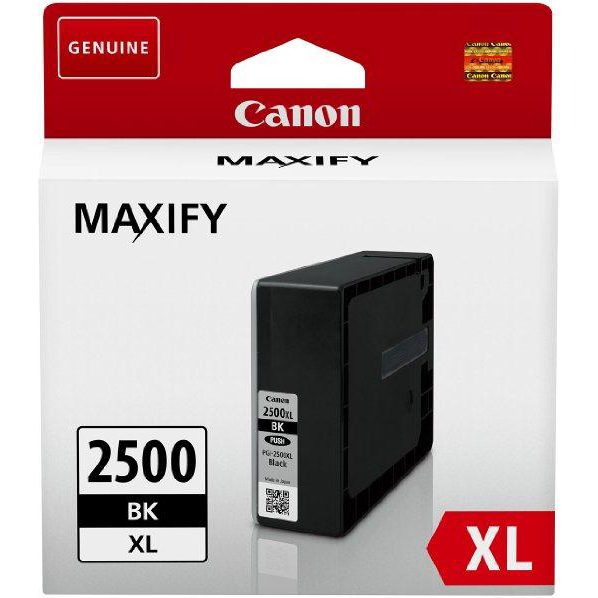 Canon PGI-2500XLBLK Inkjet Cartridge High Yield 70.9ml Page Life 2500pp Black Ref 9254B001AA