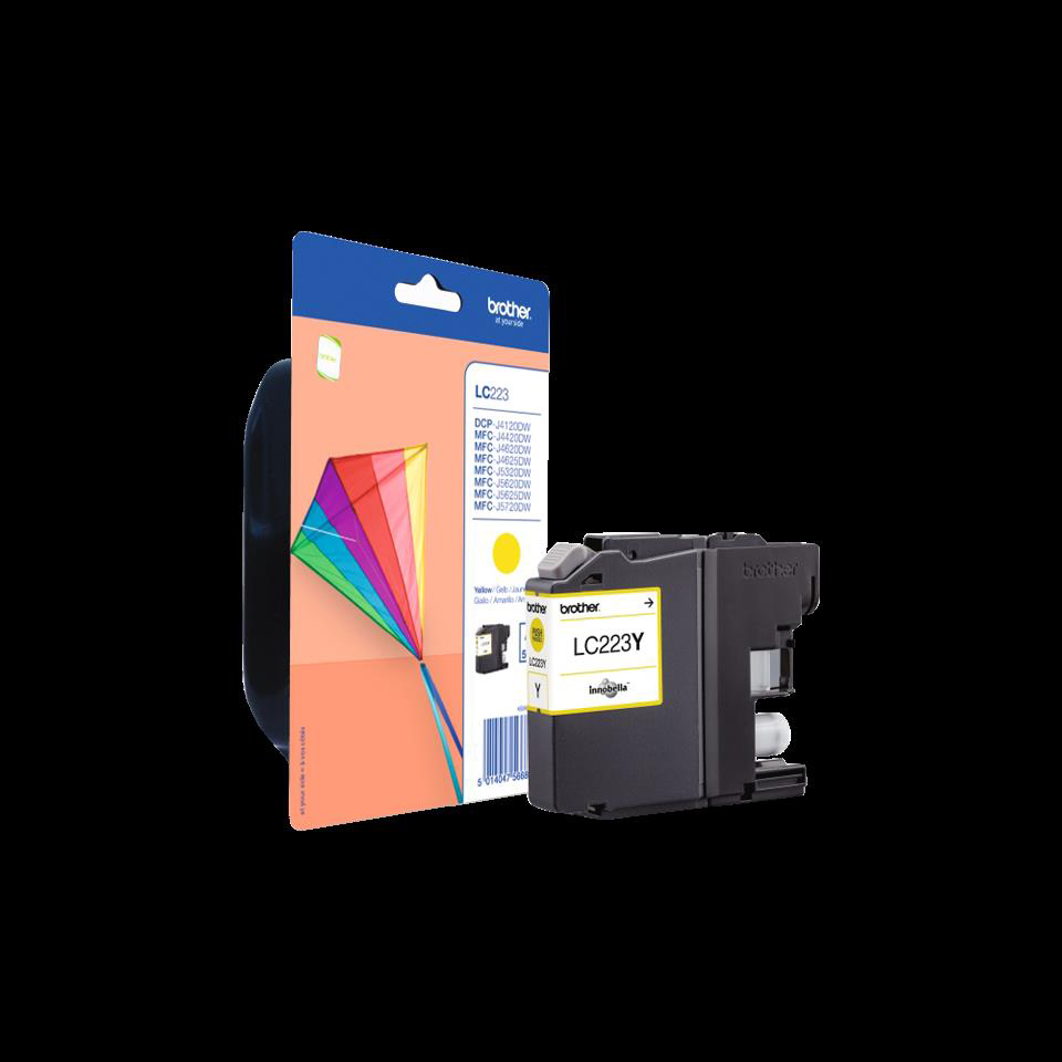 Brother Inkjet Cartridge Page Life 550pp Yellow Ref LC223Y