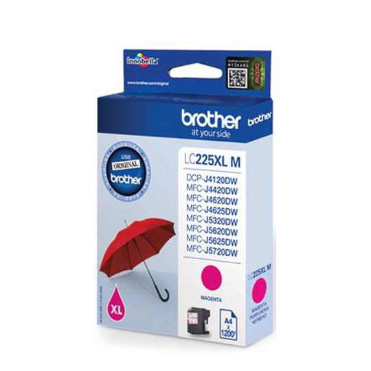 Brother Inkjet Cartridge High Yield Page Life 1200pp Magenta Ref LC225XLM