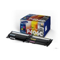 Samsung CLT-P406C Laser Toner Carts Page Life 1500pp Black/1000pp Cyan/Mag/Yellow Ref SU375A Pack 4