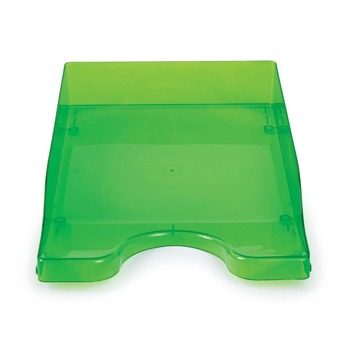 Continental Letter Tray Polystyrene for A4 Foolscap and Computer Printouts Ice Green