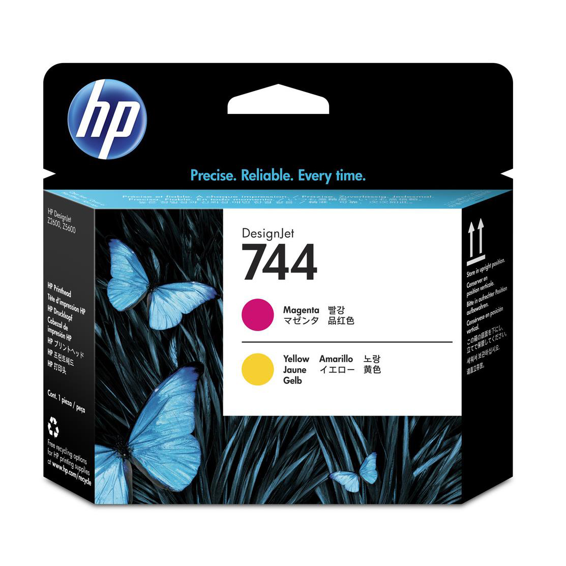 Hewlett Packard HP No.744 DesignJet Printhead Magenta/Yellow Ref F9J87A *3to5 Day Leadtime*