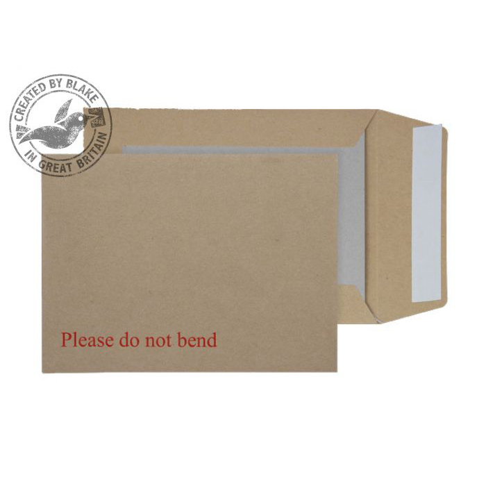 Blake Purely Packaging Env Board Back P&S 190x140mm 115gsm Manilla Ref3112 Pack125 *3to5 Day Leadtime*
