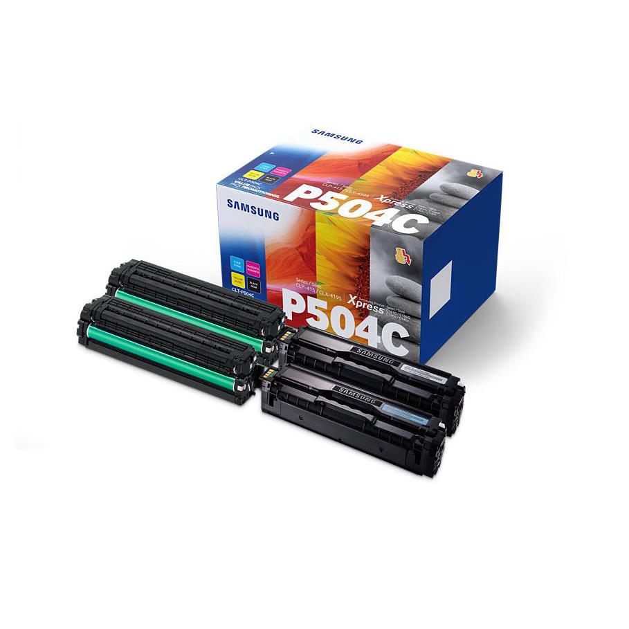 Samsung CLT-P504C Toner Carts Page Life Black 2500pp/1800pp Cyan/Mag/Yellow Ref CLT-P504C Pack 4