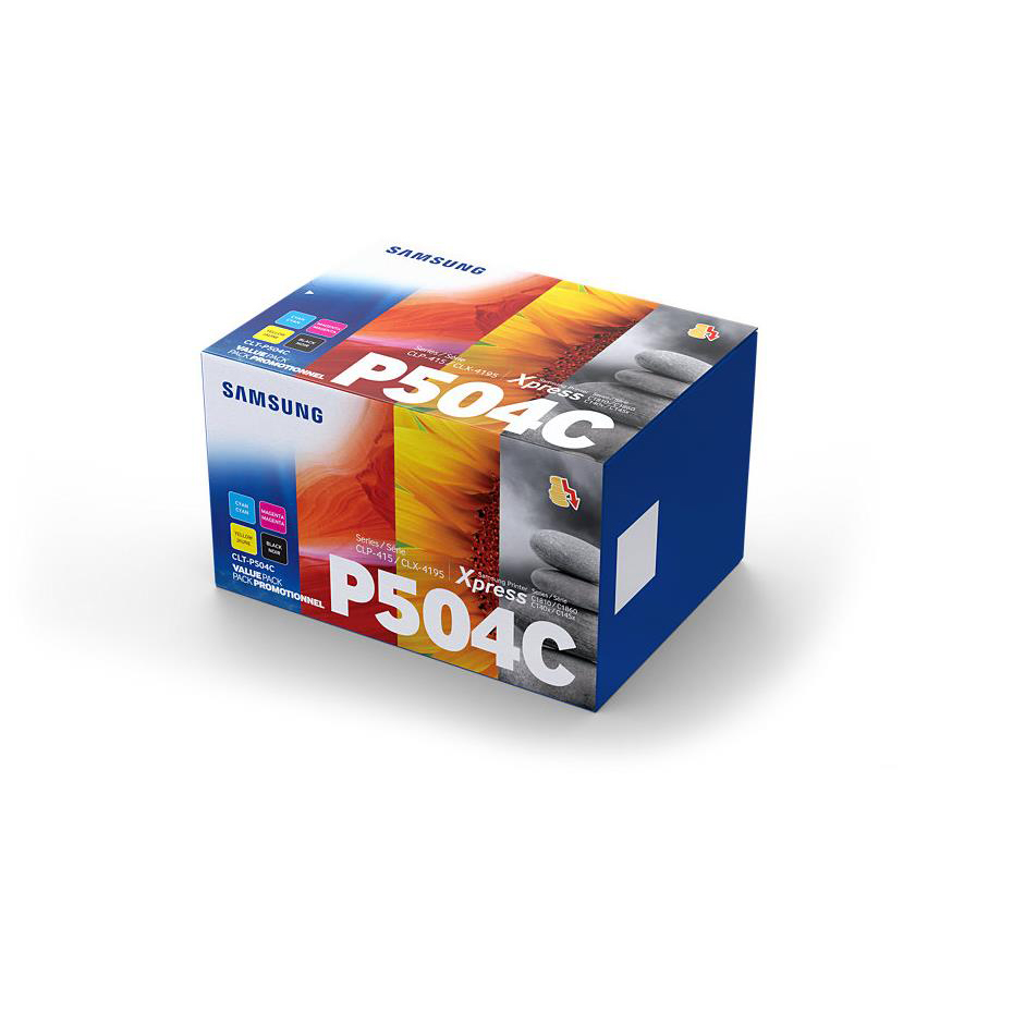 Samsung CLT-P504C Toner Carts Page Life Black 2500pp/1800pp Cyan/Mag/Yellow Ref CLT-P504C [Pack 4]