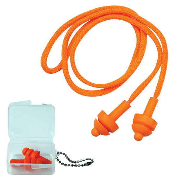 JSP Megaplug Ear Plugs With Cord and Carry Case Ref AEE020-060-0G1 [Pack 60]