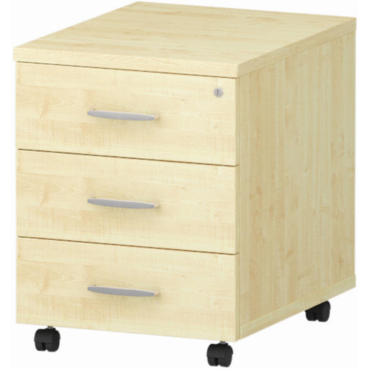Image for Trexus 3 Drawer Mobile Pedestal 430x500x510mm Maple Ref I000245