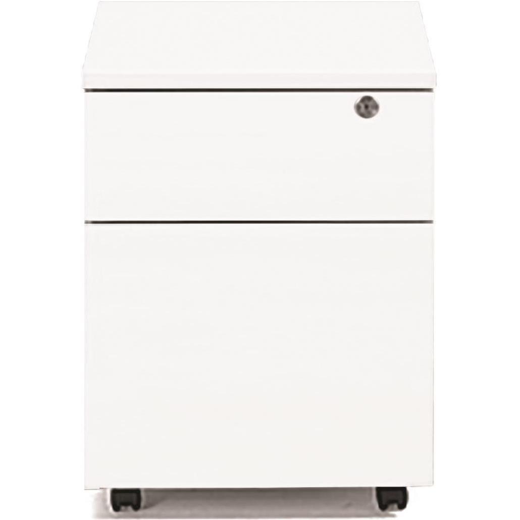 Pedestals Sonix 2 Drawer Mobile Pedestal 430x575x565mm Polar White Ref w9974wh