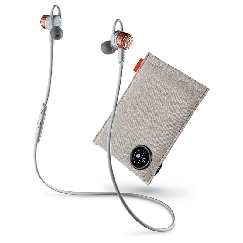 Plantronics BackBeat Go 3 Wireless Earphones with Charging Case Copper Grey & Orange Ref 204353-05