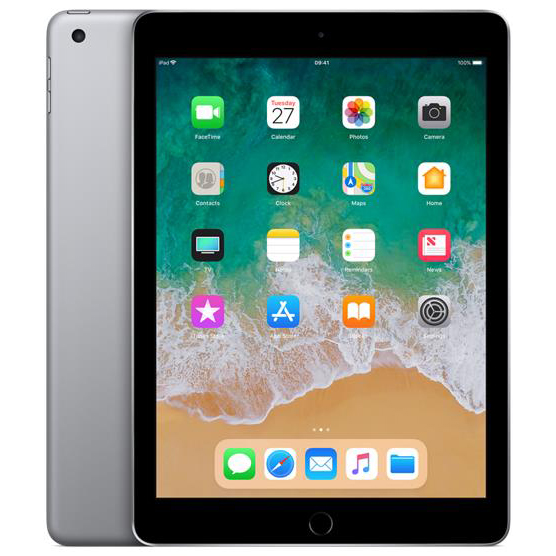 Apple iPad WiFi 32GB 8Mp Camera 9.7inch Touch ID Finger Sensor Space Grey Ref MP2F2B/A