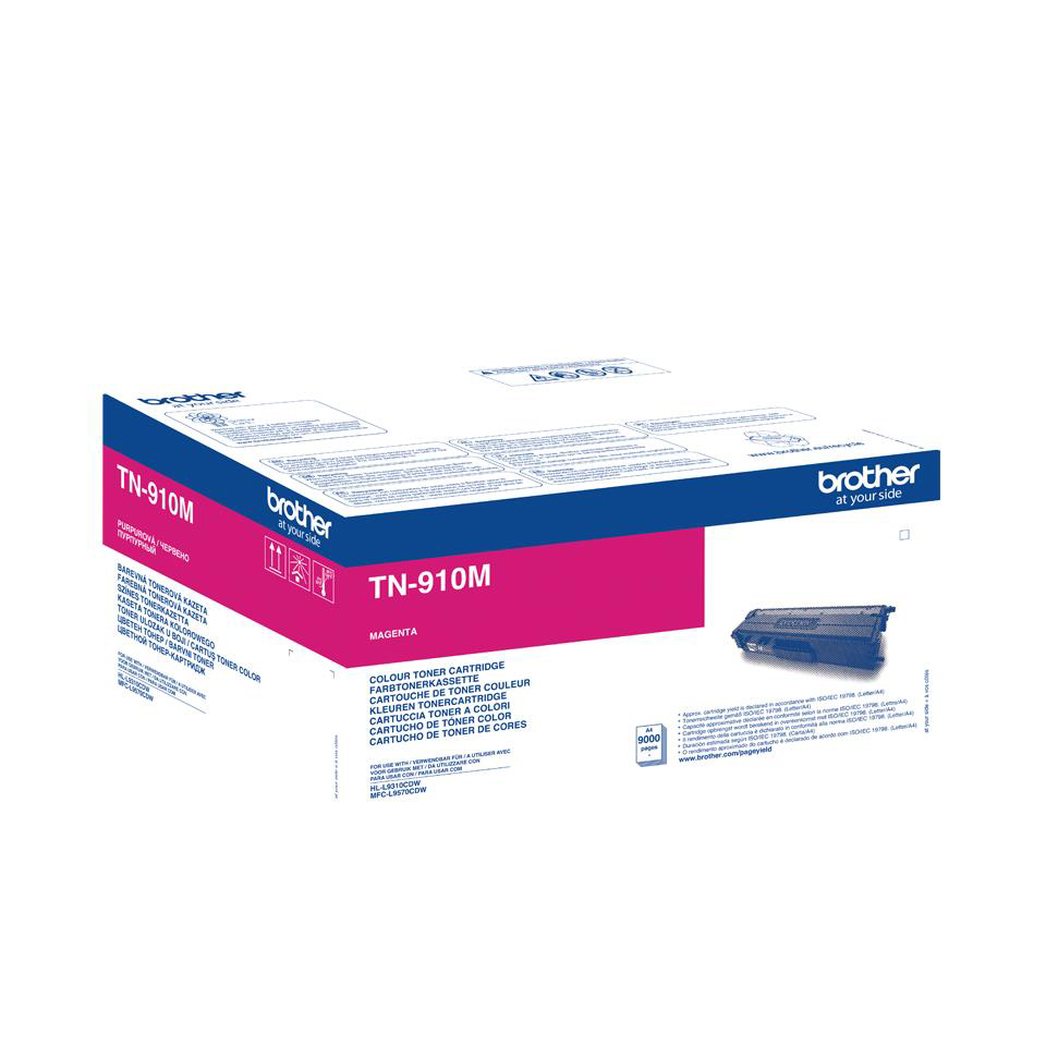 Brother TN910M Laser Toner Cartridge Ultra High Yield Page Life 9000pp Magenta Ref TN910M
