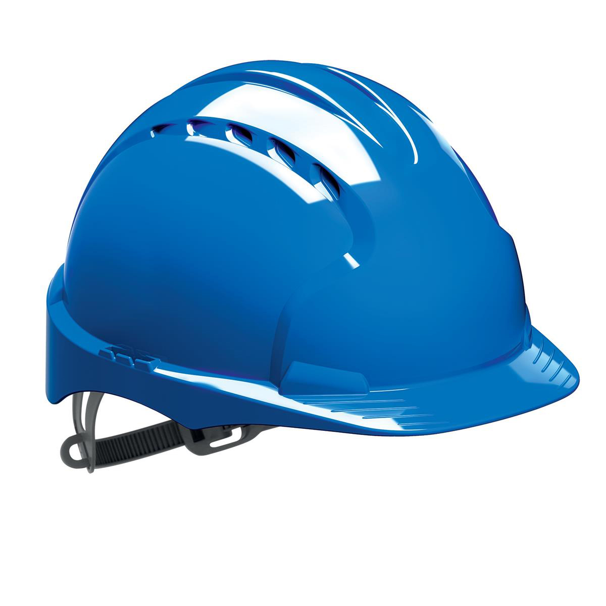 Safety helmets JSP EVO2 Safety Helmet HDPE 6-point Polyethylene Harness EN397 Standard Blue Ref AJF030-000-500