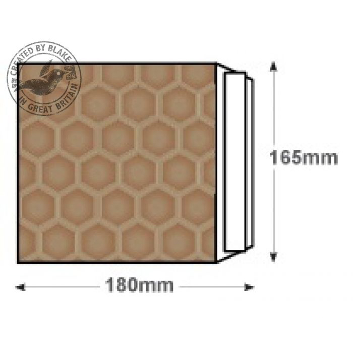 Blake Purely Packaging Padded Bubble Pocket P&S CD 165x180mm Gold Ref CDGOLD [Pk200]*10 Day Leadtime*