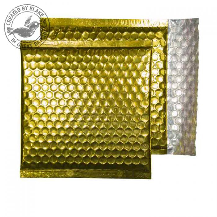 Purely Packaging Envelope P&S 165x165mm Padded Met Gold Ref MBGOL165 [Pack 100] 10 Day Leadtime