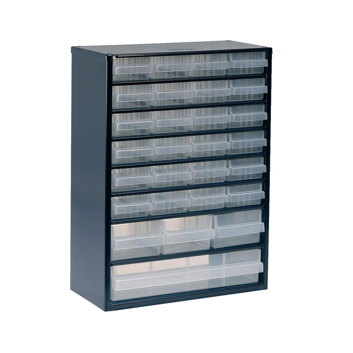 Image for Raaco Workshop Kit 1-Cabinet 3-Steel Wall Panels 22-Assorted Clips 16-Storage Bins Easy Set-Up Ref 139830