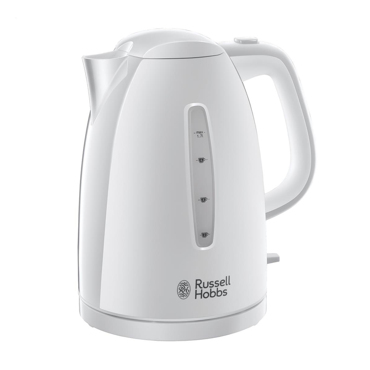 Kitchen Appliances Russell Hobbs Textures Kettle 1.7L 3000W 360 Degrees Rotation Auto-off Safety Lid White Ref RH2127