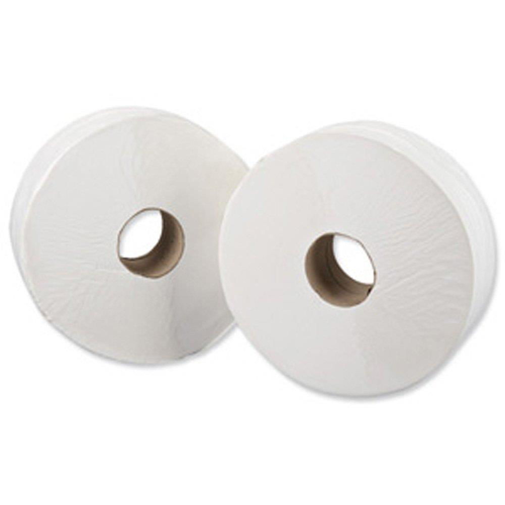 Toilet Tissue & Dispensers Maxima Mini Jumbo Toilet Roll 400x90mm 2-Ply 200m White Ref 1102008 Pack 12