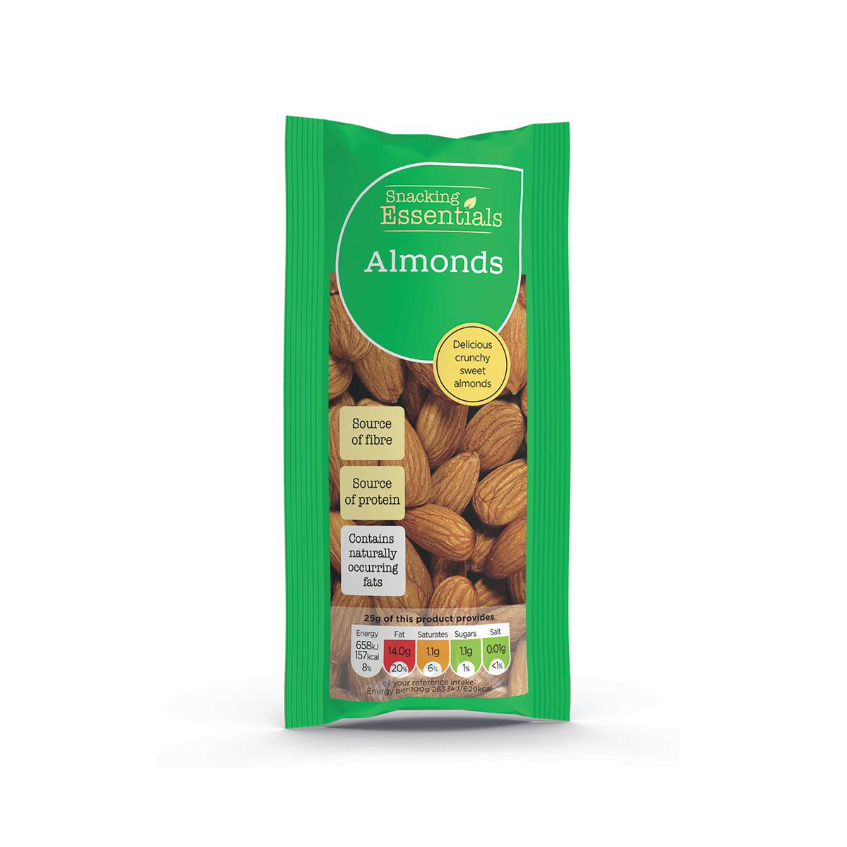 Snacking Essentials Almonds Shots 50g Ref 100150 [Pack 16]