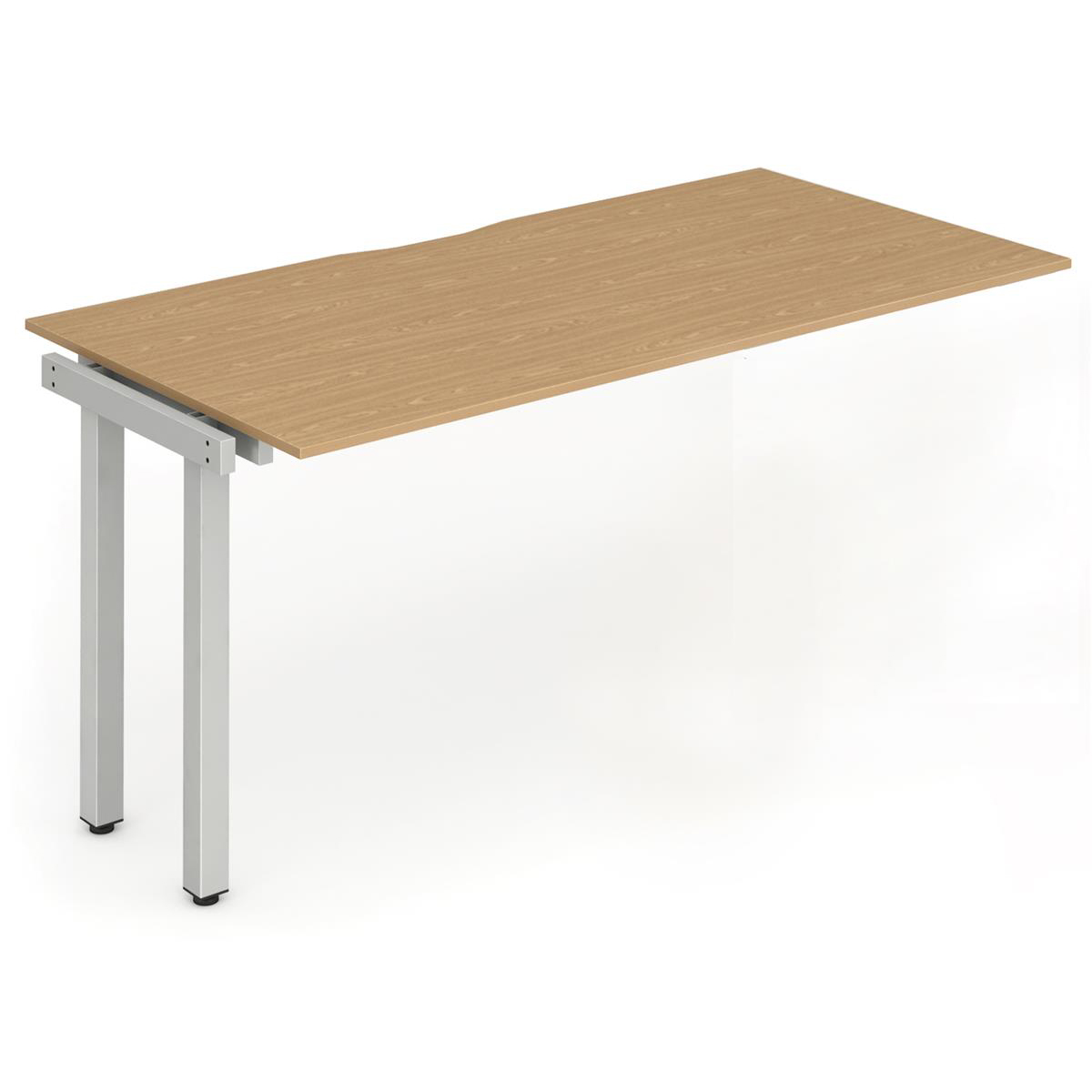 Trexus Bench Desk Single Extension Silver Leg 1200x800mm Oak Ref BE338