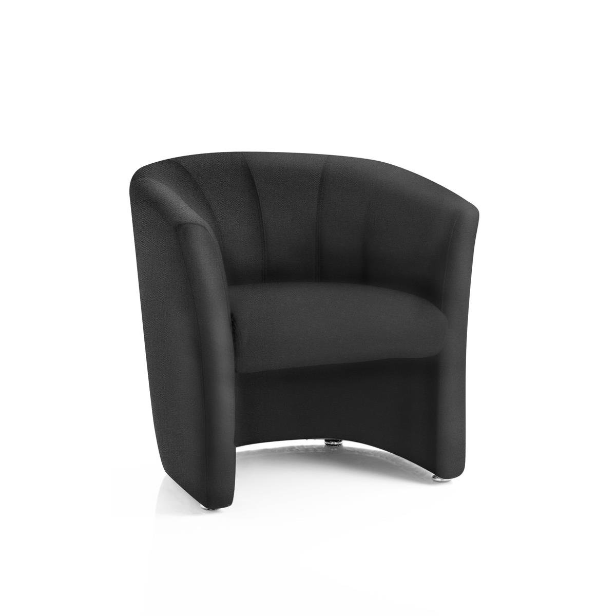 #Trexus Tub Arm Chair Black 450x480x460mm Ref BR000099