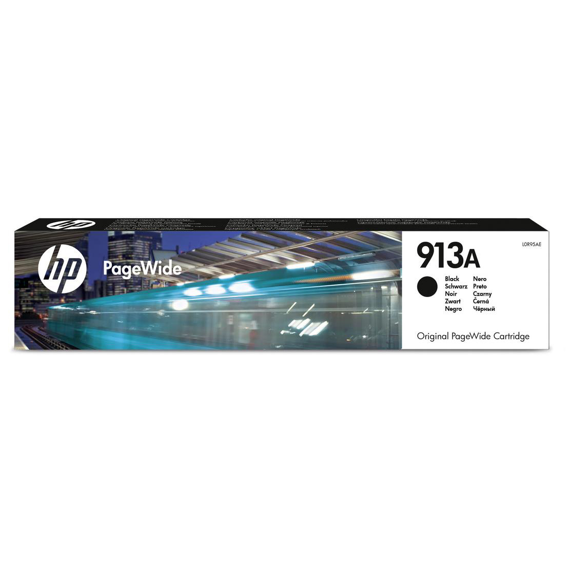 Accessories Hewlett Packard HP No.913A Inkjet PageWide Cartridge Page Life 3500pp 64ml Black Ref L0R95AE