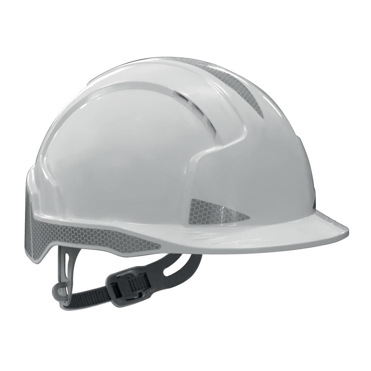 JSP EVOLite Safety Helmet ABS 6-point Harness Reflective Strips EN397 White Ref AJB160-400-100