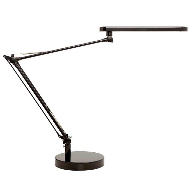 Unilux Mambo LED Desk Lamp Adjustable Arm 5.6W Max Height 860mm Base Diameter 190mm Black Ref 400087707