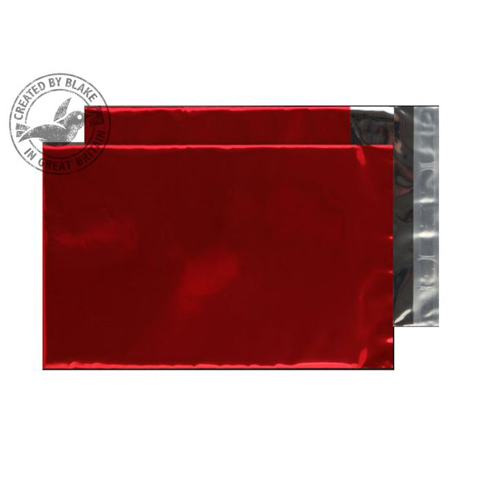 Shades of Grey Purely Packaging Foil Pocket P&S 70 Mic 229x162mm Met Red Ref MF806 Pack 250 *10 Day Leadtime*