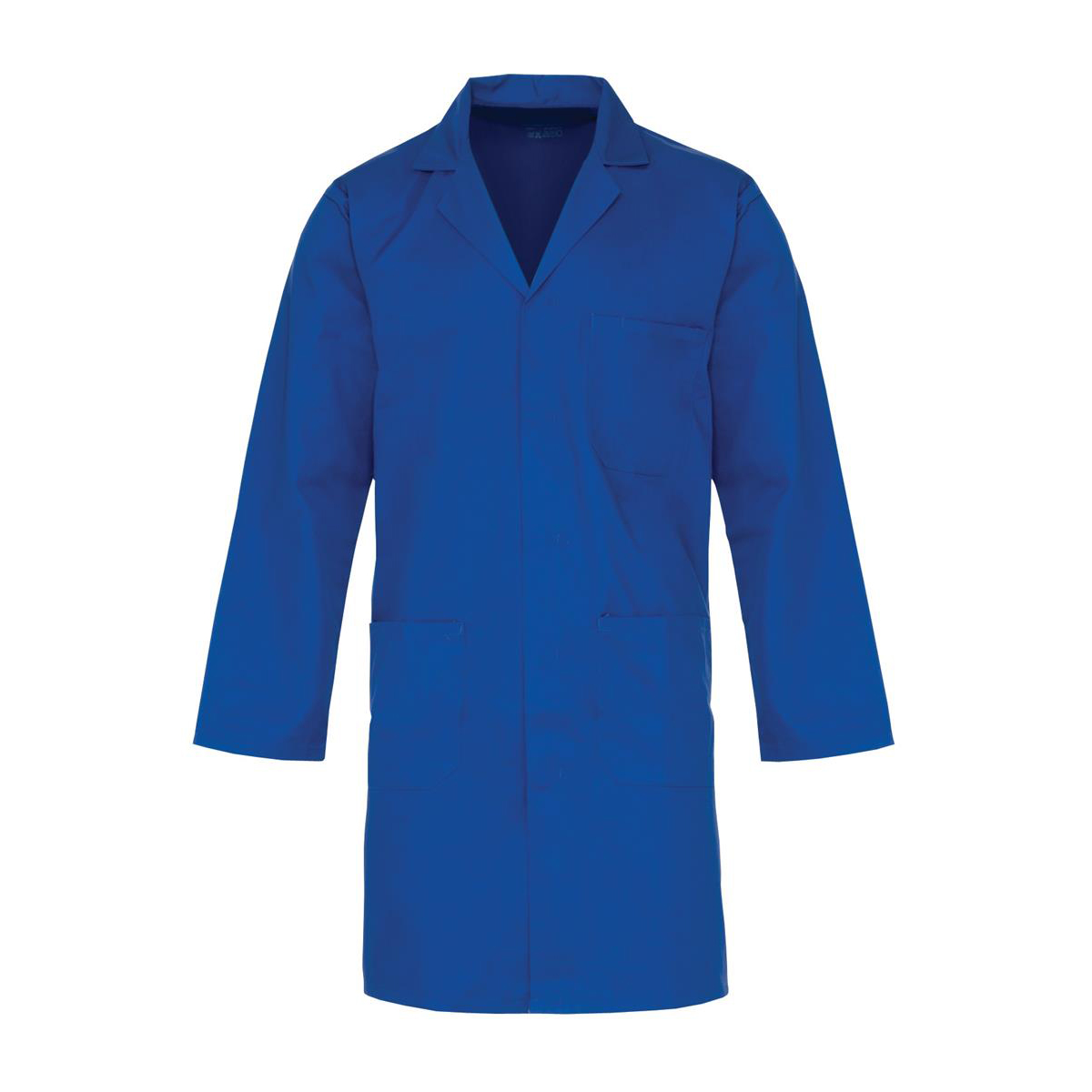 Safety Click Lab Coat Polycotton with 3 Pockets Small Navy Ref PCWCN38 *Approx 3 Day Leadtime*