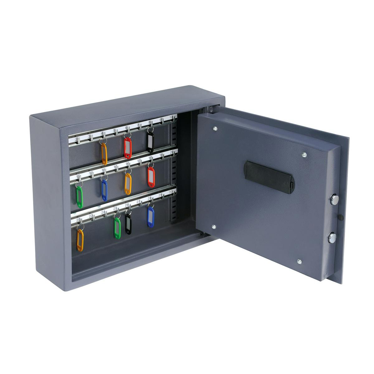 Key cabinets or organizers High Security Key Safe Electronic Key Pad and 30mm Double Bolt Locking 30 Keys