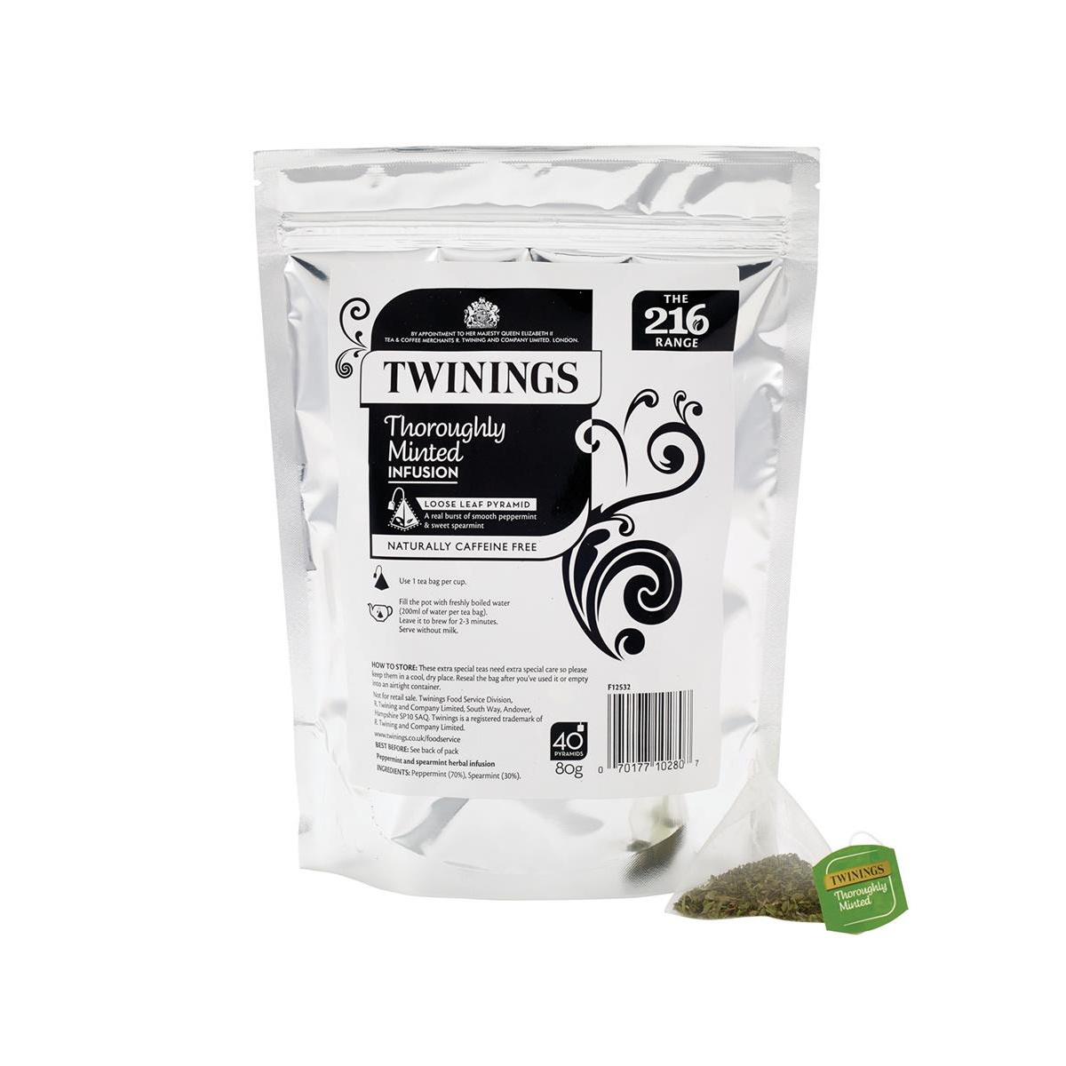 Twinings Tea Luxury Pyramid Teabags Thoroughly Minted Pouch Ref F12532 [40 Bags]
