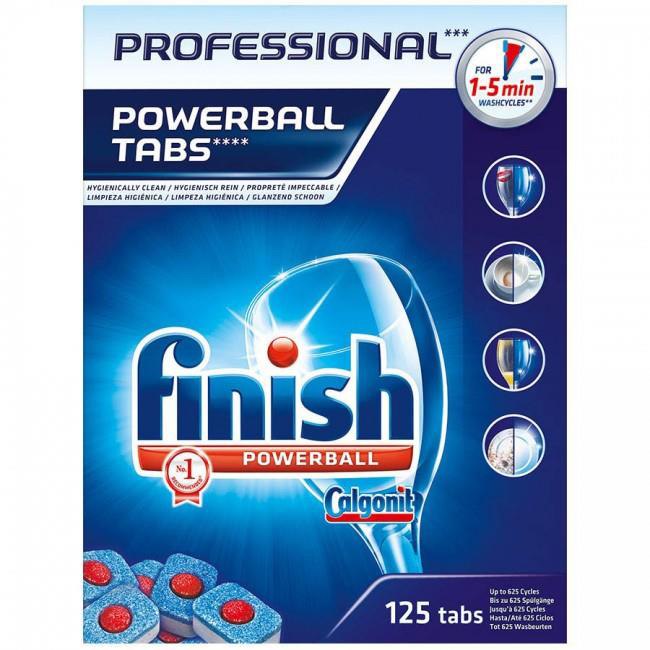 Finish Professional Powerball Dishwasher Tabs Ref RB088851 [Pack 125] [2 For 1] Jul-Sep 2018