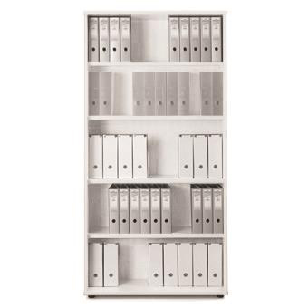 Sonix Very Tall Bookcase 1000x425x2000mm 4 Shelves Polar White Ref w9874wh