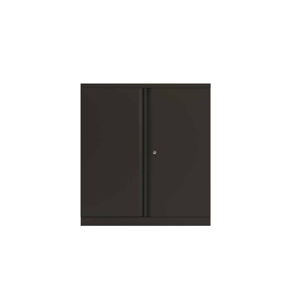 Bisley Two Door Steel Storage Cupboard 914x470x1000-1015mm Black Ref YECB0910/1S-av1