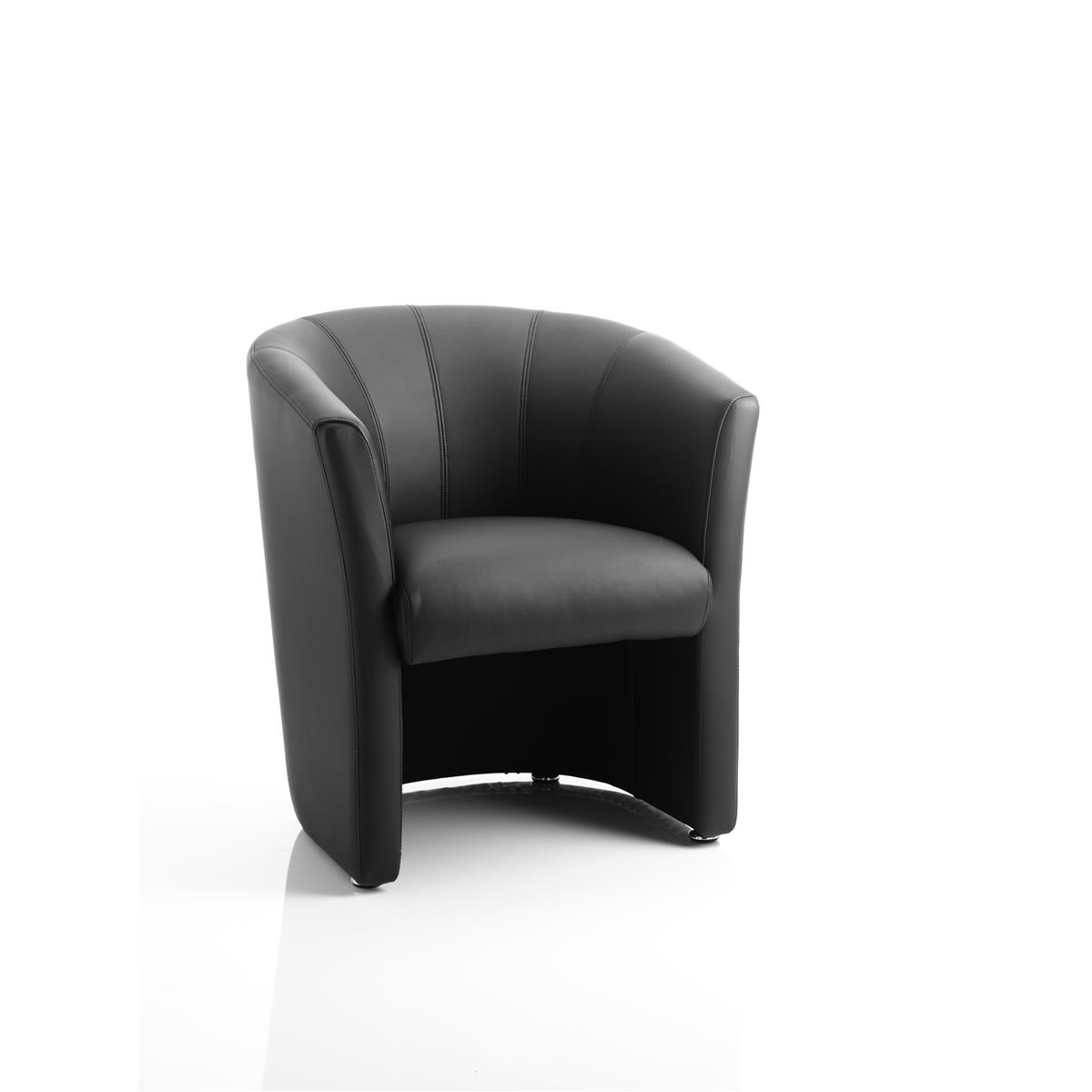 #Trexus Tub Arm Chair Black Leather 450x480x460mm Ref BR000100