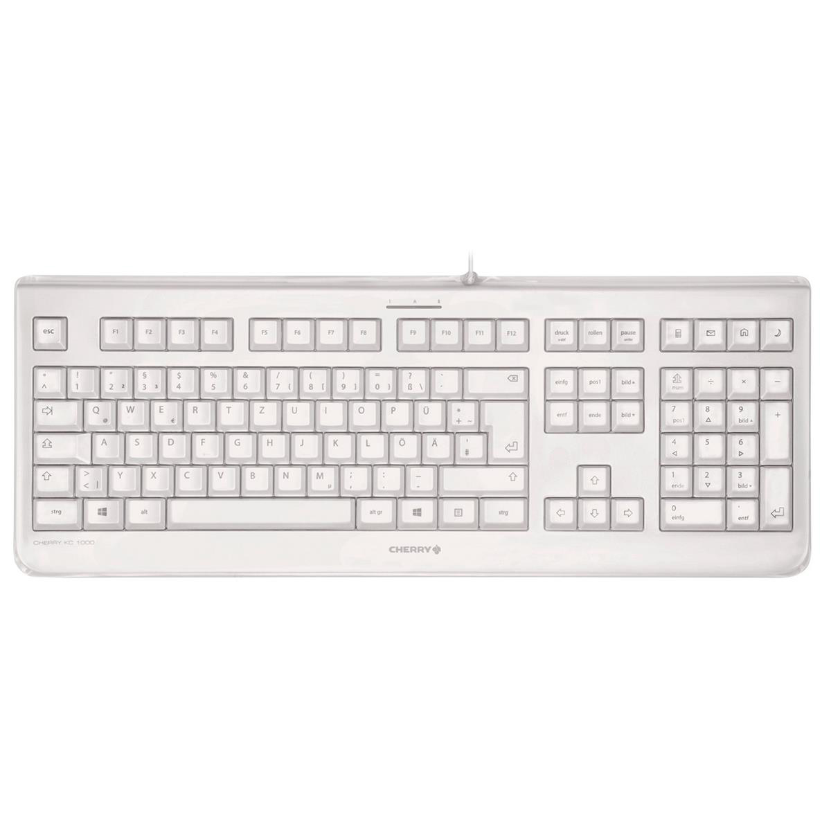 Keyboards Cherry KC 1068 Heat-sealed Keyboard Ultra Flat USB Connection Grey Ref KC 1068