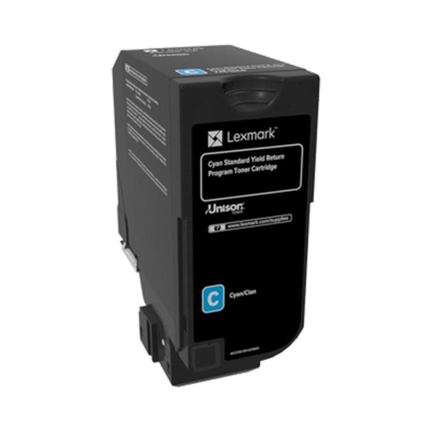 Lexmark CS720 series Toner Cartridge Return Program Page Life 7000pp Cyan Ref 74C2SC0
