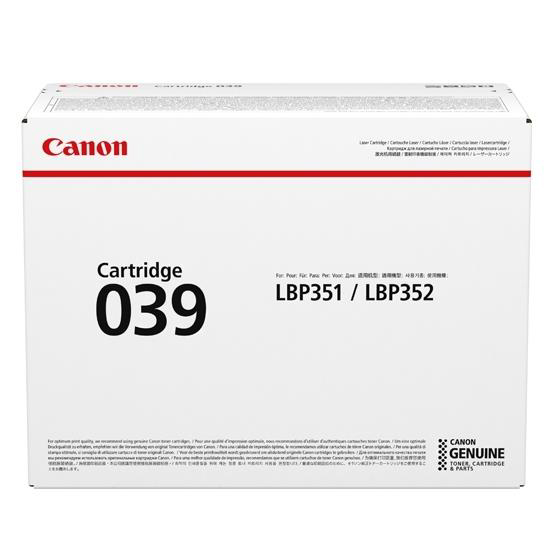 Canon CRG 039 Laser Toner Cartridge Black Ref 0287C001