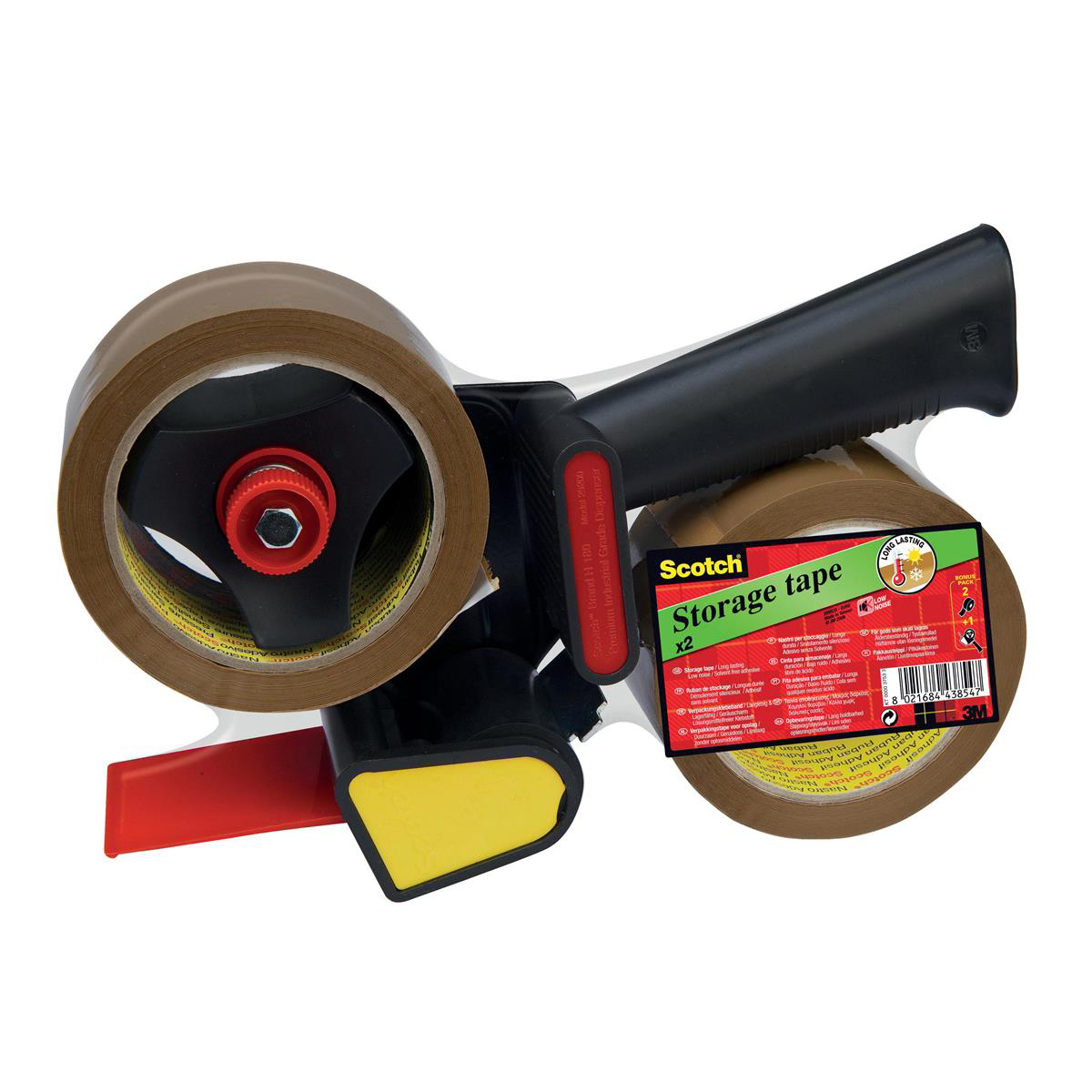 Tape Dispensers Scotch Tape Dispenser Kit Contains 1xDispenser & 2xRolls 50mmx60m Buff Packaging Tape Ref LN5066R21