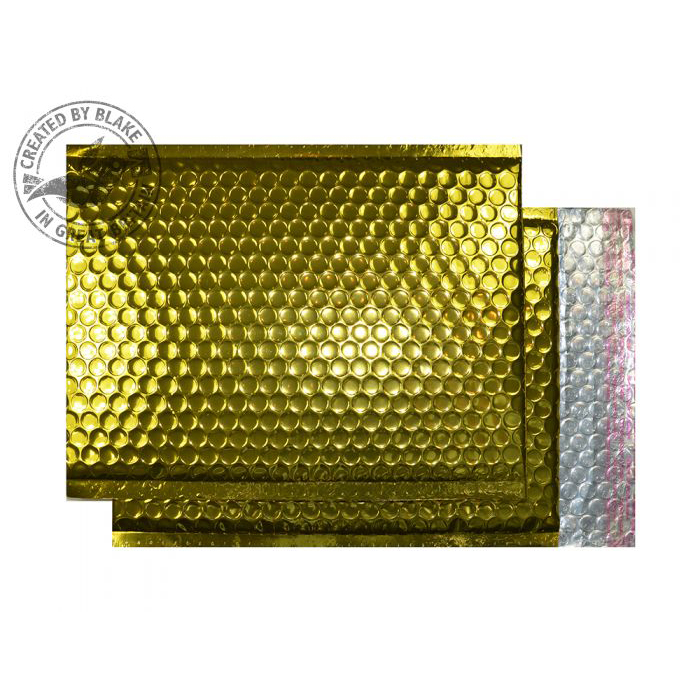 Shades of Brown Purely Packaging Bubble Envelope P&S C4+ Metallic Gold Ref MBGOL324 Pk 100 *10 Day Leadtime*