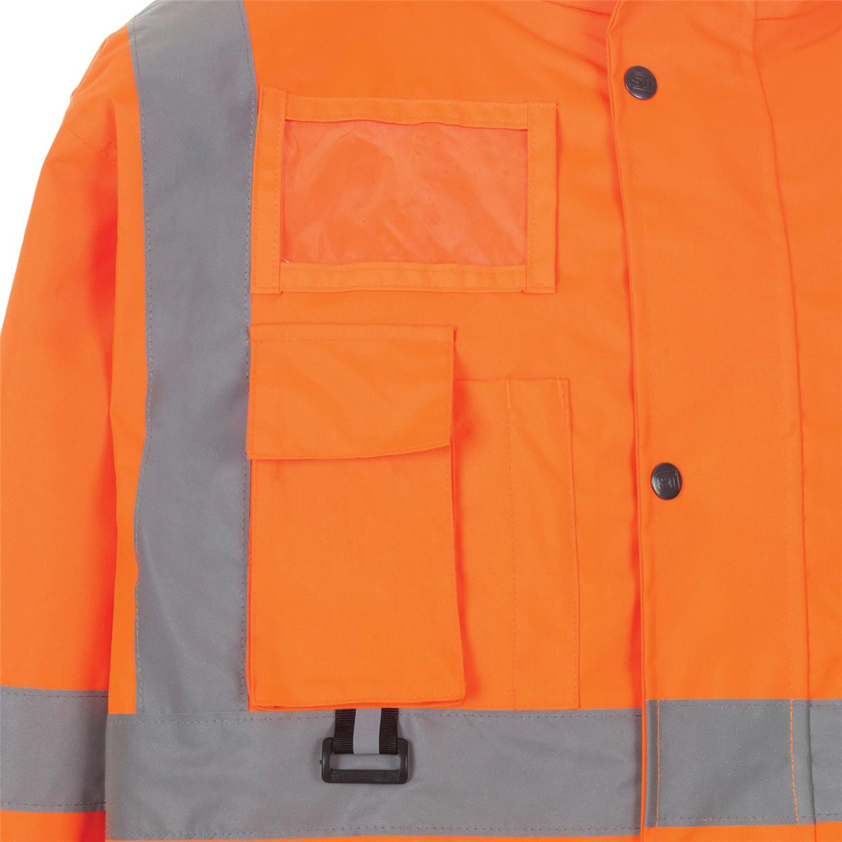 High Visibility Breathable Jacket Multifunctional Large Orange Ref JJORL *Approx 2/3 Day Leadtime*