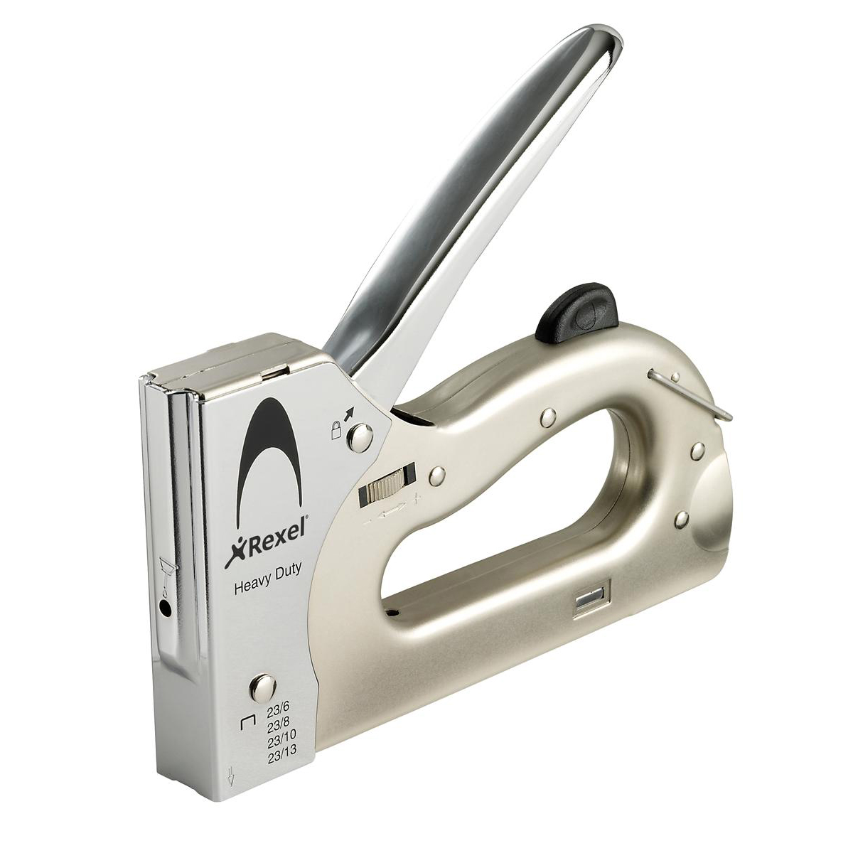 Staple guns Rexel Tacker Heavy Duty Bottom-loading Adjustable No.23/6 No23/8 No.23/13 Ref 2101209