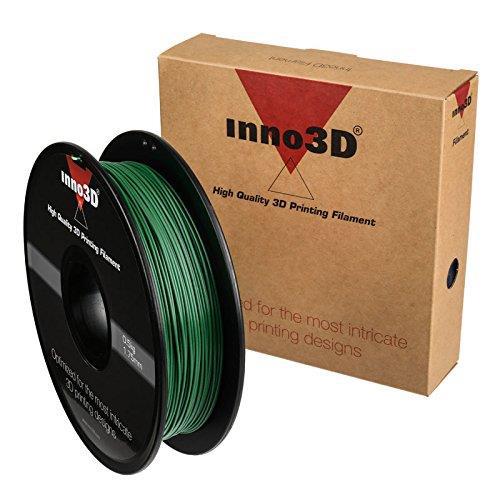 Image for Inno3D ABS Filament for 3D Printer 1.75x200mm 0.5kg Dark Green Ref 3DPFA175SG05