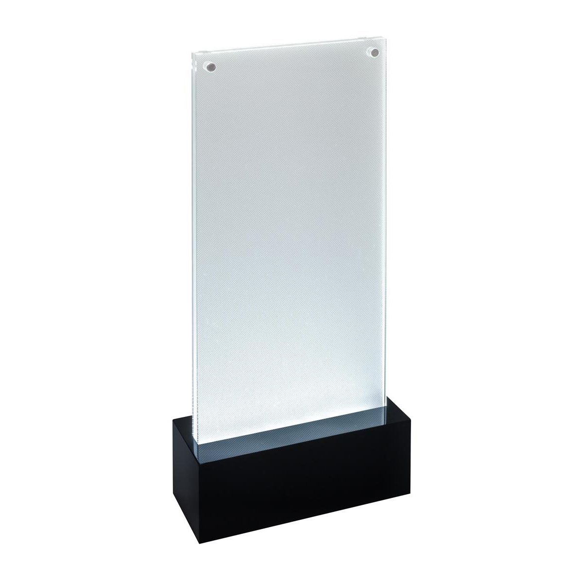 Sigel Table-top Display Frame LED Double-sided Luminous DL Clear/Black Ref TA424