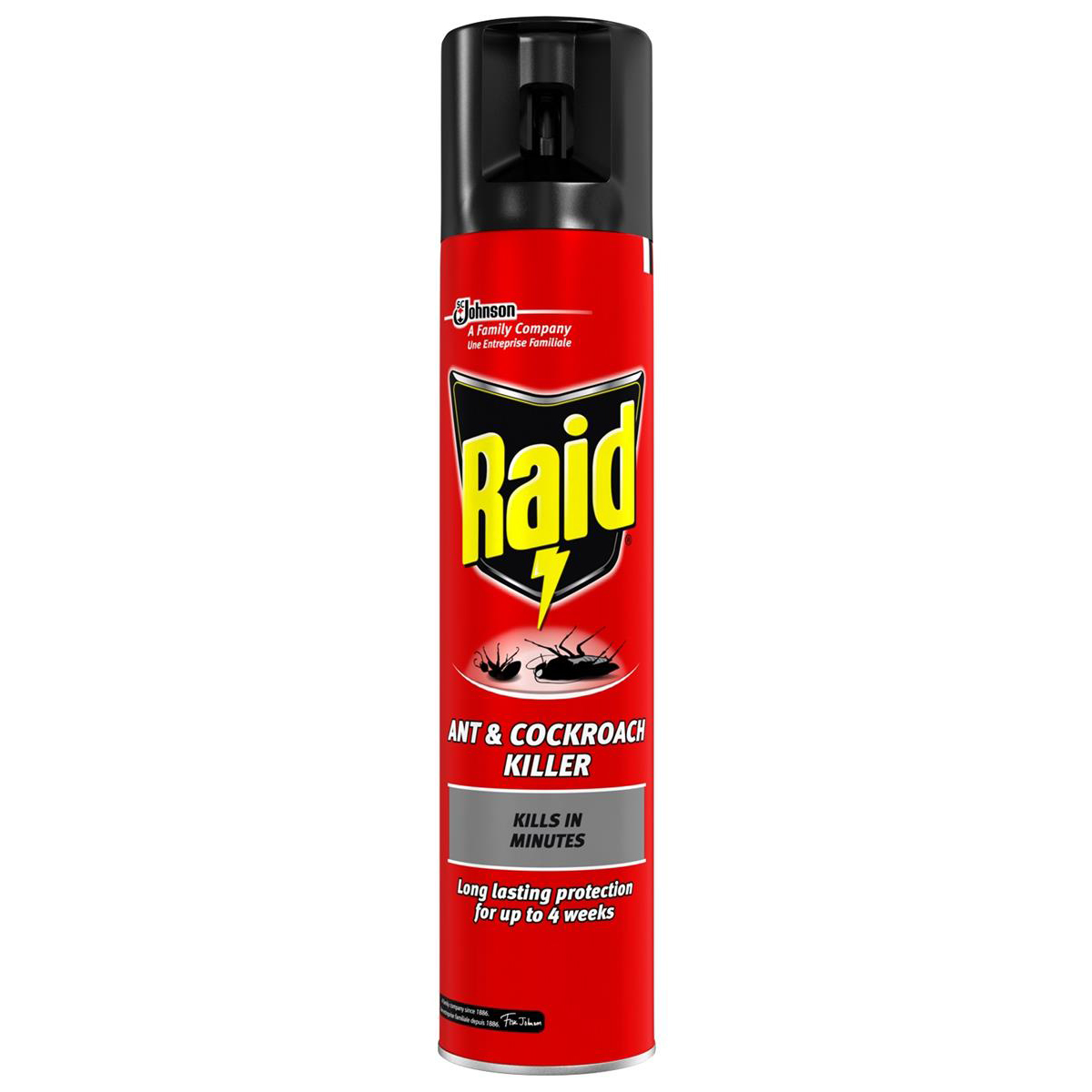 Disinfectant Wipes Raid Ant & Cockroach Insecticide Aerosol 300ml Ref 97734