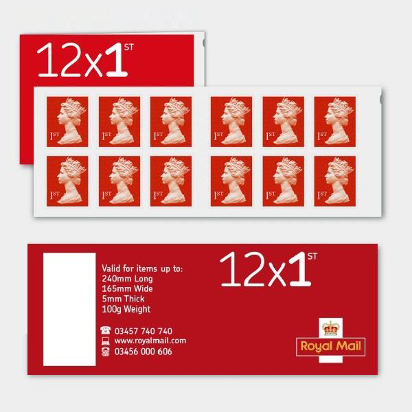 Stamps Royal Mail First Class Stamps 50 x Book of 12