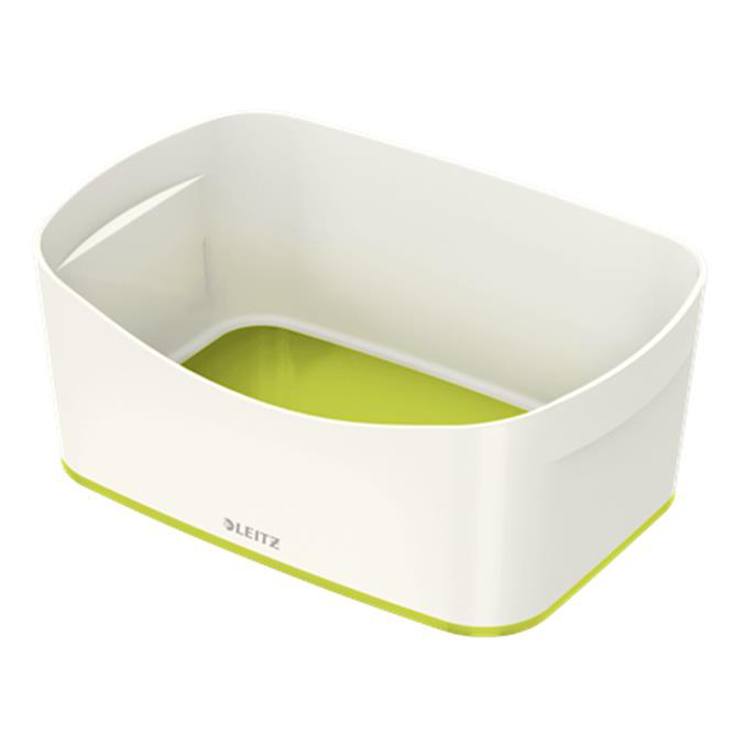 Leitz MyBox Storage Tray Plastic(ABS) W246xD98xH160mm White/Green Ref 52571064